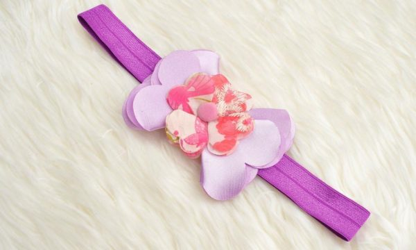 BABY GIRL HAIR ACCESSORIES FOR NEWBORN, INFANT AND TODDLERS PANSIES HEADBAND - Zuri Baby Couture PH