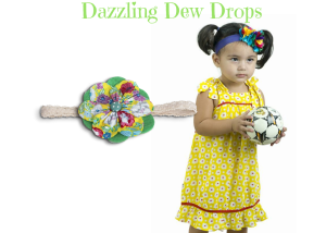 Dazzling Dew Drops Baby Girl Dress Set 1-4 Years Old