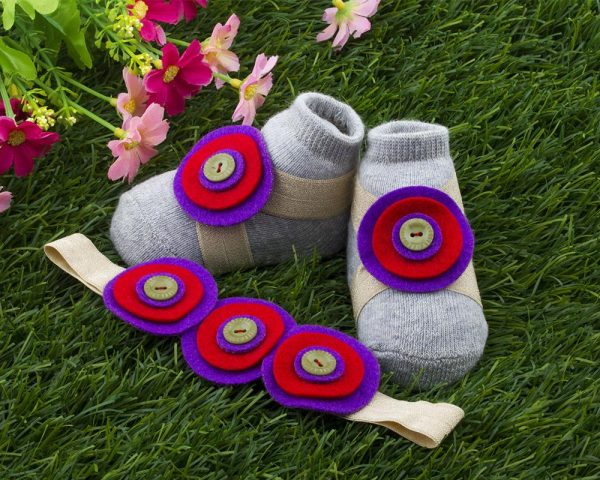 Violet and Red Berries and Grapes Barefoot Set 2 - Zuri Baby Couture PH