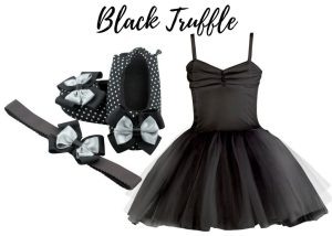 BLACK TRUFFLE BABY GIRL DRESS SET 3-9 MONTHS