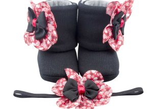 Calypso Beat Baby Girl Booties And Headband Set