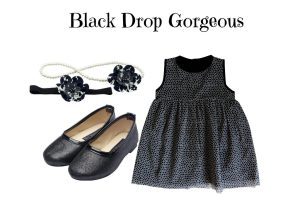 BLACK DROP GORGEOUS KIDS STAR DRESS SET 2-3 YRS OLD