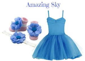 Baby Girl Dress Set: Baby Girl Tutu Dress With Matching Barefoot Sandal & Headband For 3-18 Months