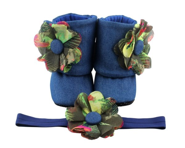 Downtown Mod Baby Girl Booties 3-18 Months