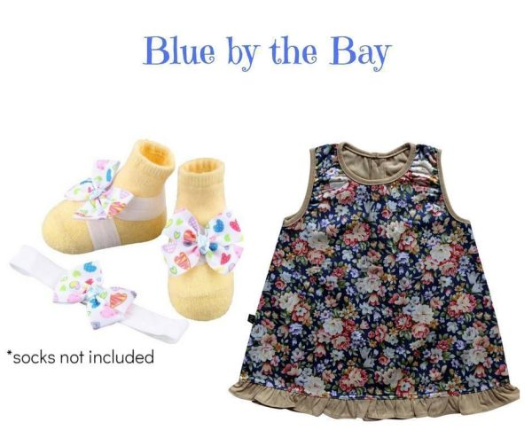 BLUE BY THE BAY BABY GIRL DRESS SET 3-9 MONTHS