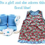 Blue Floral: It's a girl & she adores this floral blue