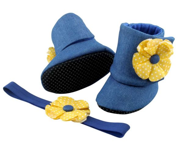 Twice As Nice! Baby Girl Booties 18-24 Months