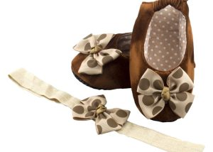 Espresso Delight Ballerina Shoes And Headband Set