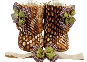 Exotic Beauty Baby Girl Booties And Headband Set