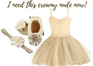 I NEED THIS CREAMY NUDE NOW BABY GIRL DRESS SET 3-9 MONTHS