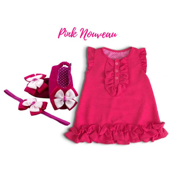 Pink Nouveau Baby Girl Dress Set 9-18 Months