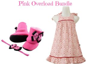 Pink Overload Baby Girl Dress Set 9-18 Months