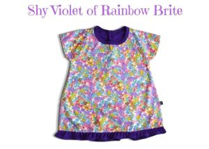 Shy Violet Of Rainbow Brite Baby Girl Dress 3-9 Months
