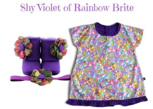 SHY VIOLET OF RAINBOW BRITE BABY GIRL DRESS SET 3-9 MONTHS
