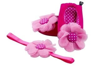 Carnation Coronation Ballerina Shoes And Headband Set