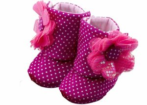 Fuchsia Fun Baby Girl Booties-Zuri Baby Couture