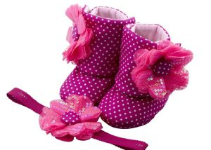 Fun With Fuchsia Baby Girl Booties 18-24 Months