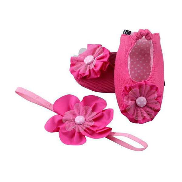A Hot-blooded Fuchsia To Stir Things Up Ballerina Shoes And Headband Set