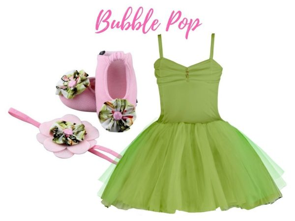 BUBBLE POP BABY GIRL DRESS SET 3-9 MONTHS
