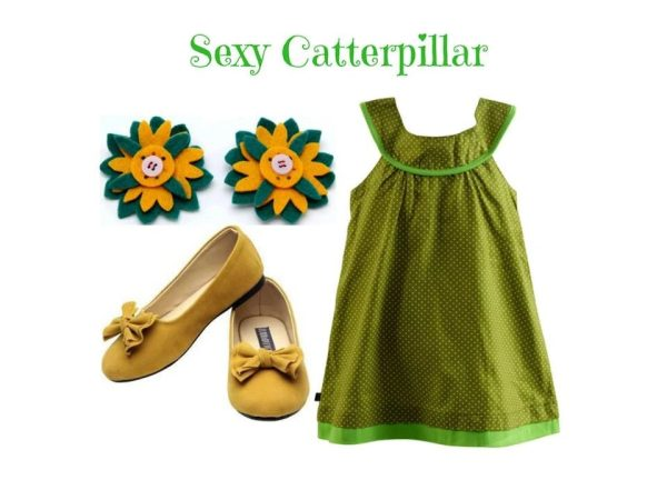 Sundress With Toddles Shoes And Hair Clip: Sexy Catterpillar For 18-24 Months