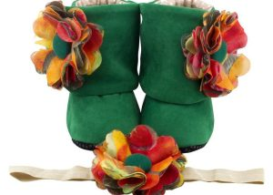 Sunrise Dolly Baby Girl Booties 3-9 Months