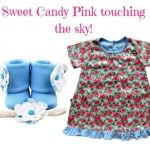 Light Blue Floral: Sweet Candy Pink touching the sky