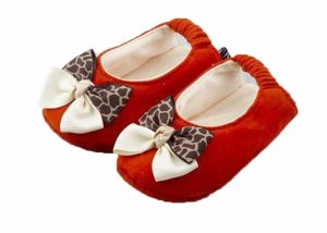 Orange Sexy Safari Ballerina Shoes-Zuri Baby Couture