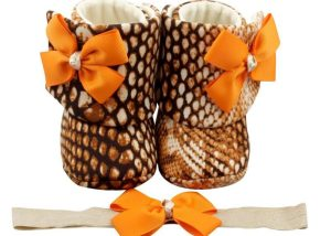 Tiger Lily Baby Girl Booties And Headband Set