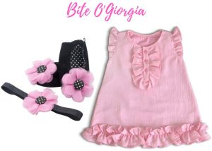 Bite O'Giorgia Baby Girl Dress Set 9-18 Months