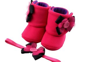 Starry Eyed Booties Baby Girl Booties And Headband Set