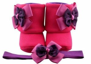 The Berry Thought Of You Baby Girl Booties 3-9 Months