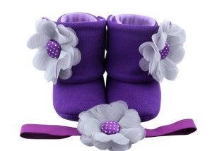 Amethyst That Makes A Statement Baby Girl Booties 3-9 Months