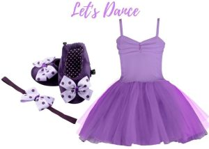 LETS DANCE BABY GIRL DRESS SET 3-9 MONTHS