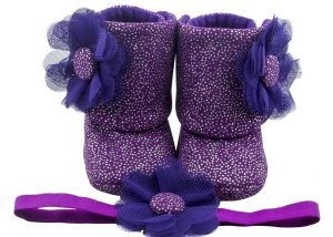 Royal Highness Baby Girl Booties And Headband Set