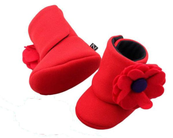 Red Blush And Bloom Baby Girl Booties A-Zuri Baby Couture