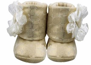 Red Coca Cola Baby Girl Booties Angle 1-Zuri Baby Couture
