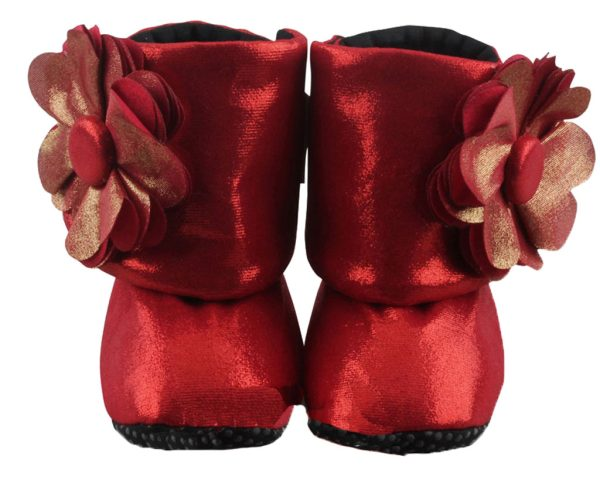 Red Coca Cola Baby Girl Booties Only-Zuri Baby Couture