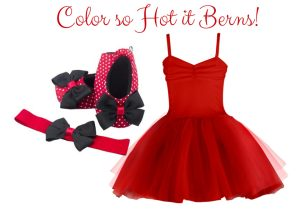 Color so Hot it Berns Baby Girl Dress Set 9-18 Months