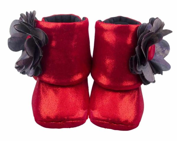 Red Do The Dorothy Baby Girl Booties Angle 1-Zuri Baby Couture