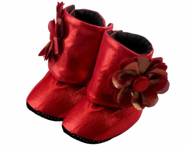 Red Do The Dorothy Baby Girl Booties Angle 2-Zuri Baby Couture