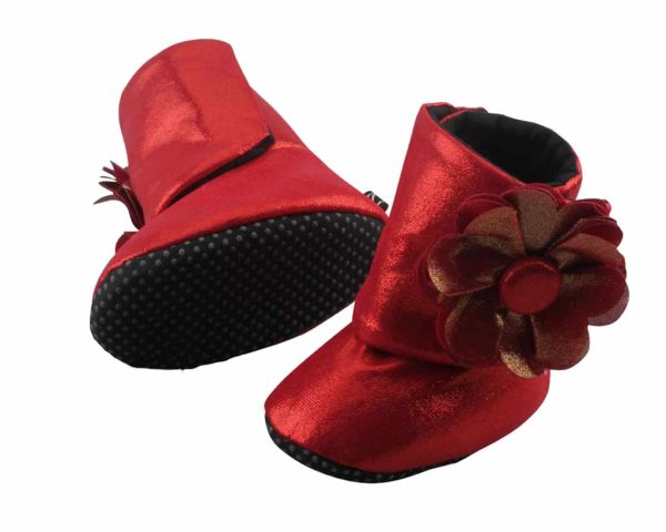 Red Do The Dorothy Baby Girl Booties Angle 3-Zuri Baby Couture