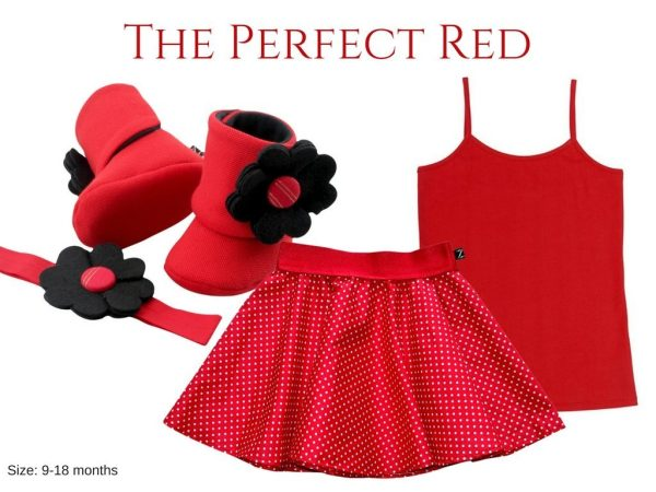 THE PERFECT RED BABY GIRL DRESS SET 9-18 MONTHS