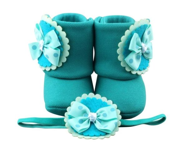 Trip To Tosca-rica Baby Girl Booties And Headband Set