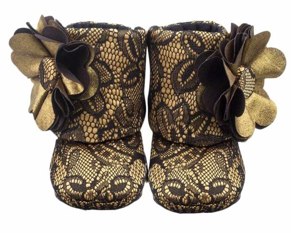 Vintage Baby Girl Booties Angle 1-Zuri Baby Couture