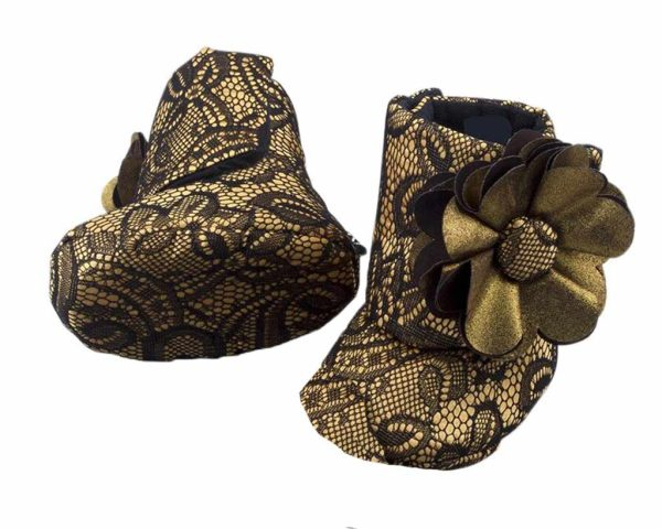 Vintage Baby Girl Booties Angle 3-Zuri Baby Couture