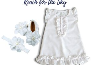 Reach For The Sky Baby Girl Dress Set 3-9 Months