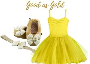 Good as Gold Baby Girl Dress Set 9-18 Months