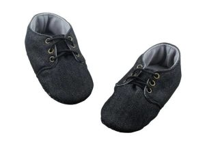 Paint the World Black Baby Boy Shoes