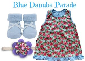 Blue Danube Parade Baby Girl Dress Set 0-6 Months