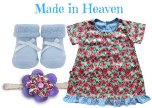 Made in Heaven Baby Girl Dress Set 0-6 Months